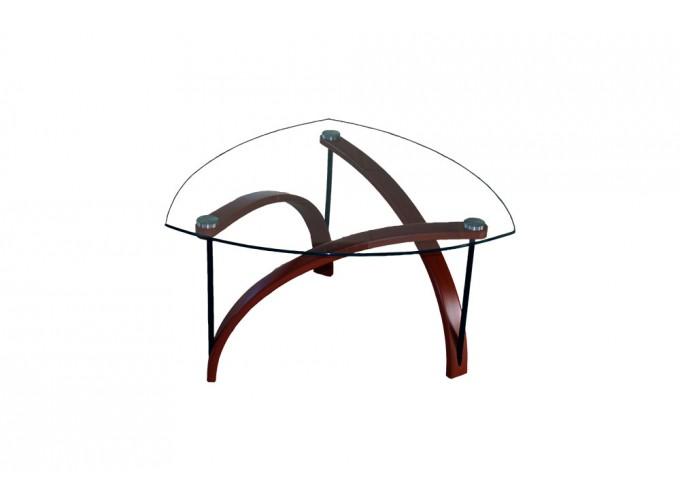 Журнальный стеклянный столик BN03 коричневый