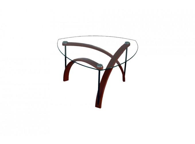 Журнальный стеклянный столик BN03 коричневый 0