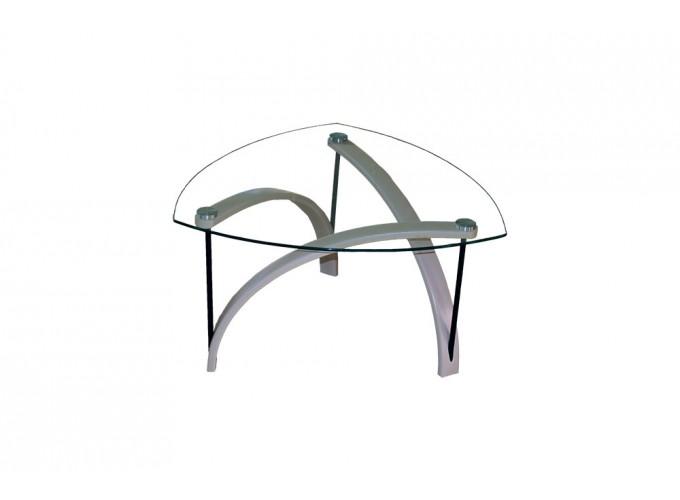 Журнальный стеклянный стол BN03 белый