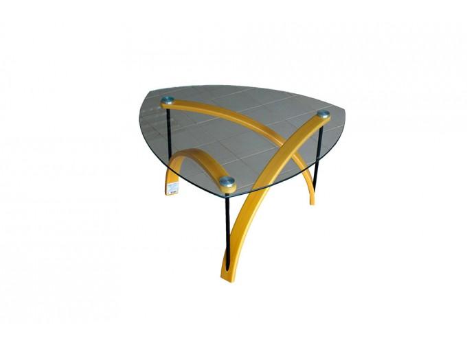 Журнальный стол из стекла BN03 желтый 1