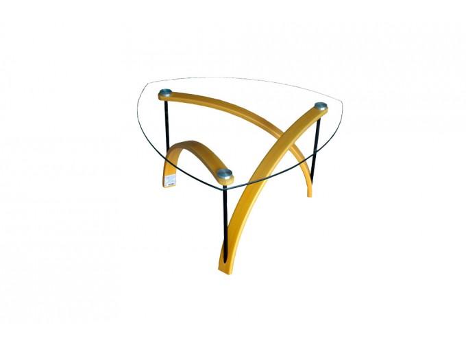 Журнальный стол из стекла BN03 желтый 0