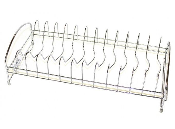 Подставка для столовой посуды из стали с хромовым покрытием M-001 (с пластиковым поддоном)