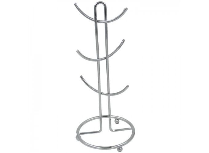Подставка для кружек из стальной проволоки с хромовым покрытием C4116-6 (полоса 8 мм)