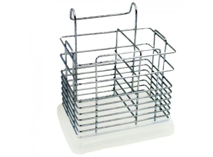 Подставка для столовых приборов из стали с хромовым покрытием C2137