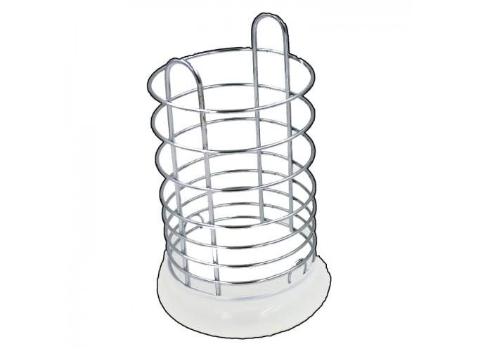Подставка для столовых приборов из стальной проволоки с хромовым покрытием C2177