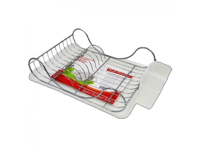 Подставка для столовой посуды и столовых приборов из стали с хромовым покрытием C1039