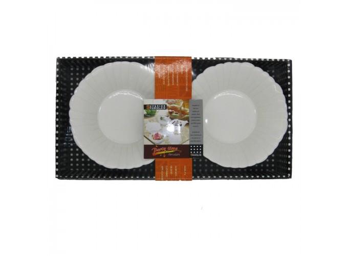 Набор салатниц 2 шт.из фарфора 1632N-2