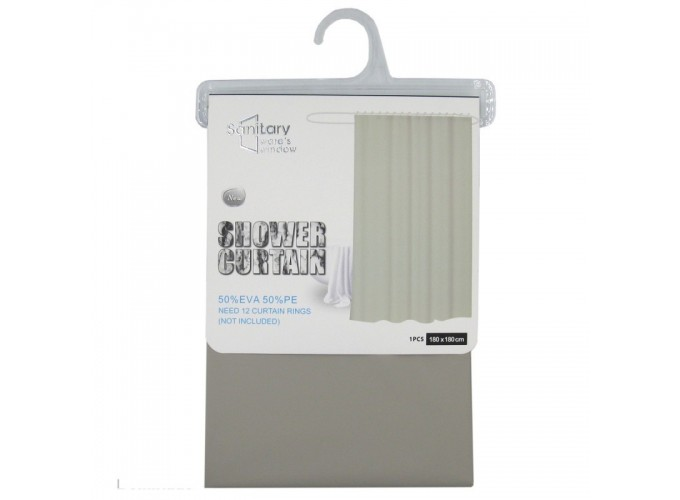 Штора для ванной комнаты из ЭВА  JS160002 (180 х 180 см)