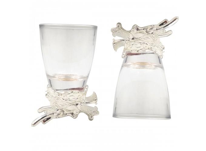 Подарочный набор стопок 12шт. из стекла  125X-серебро 0