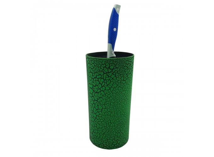Подставка для кухонных ножей из ПВХ KN-01 (корпус в виде целиндра с наполнителем в виде вынимаемых и моющихся пластиковых прутиков)