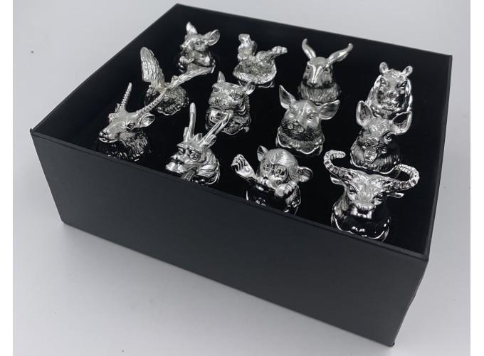 Подарочный набор стопок 12шт. из стекла  125X-серебро main