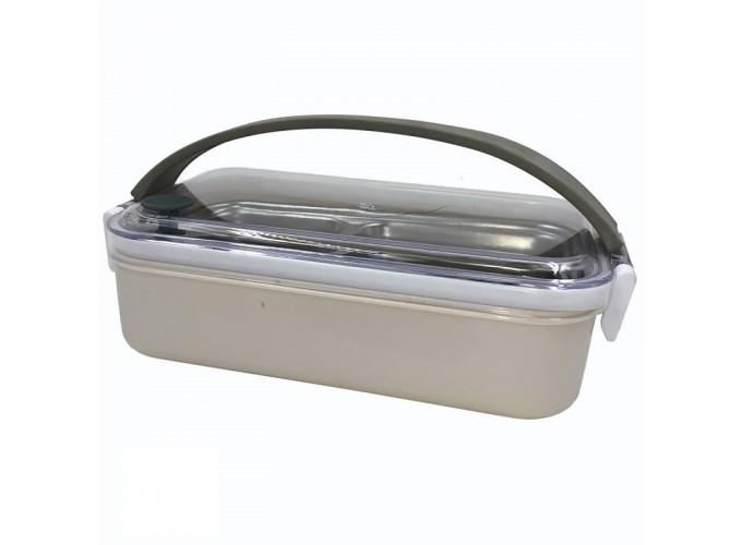 Контейнер для пищевых продуктов из коррозионностойкой стали. Арт.21-141 (односекционный; 21Х12Х6,2см)