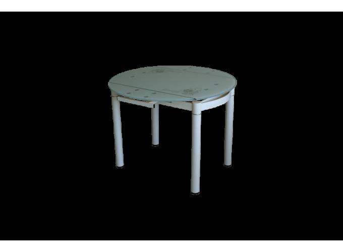Круглый раздвижной кухонный стол 6069-2В Бежевый