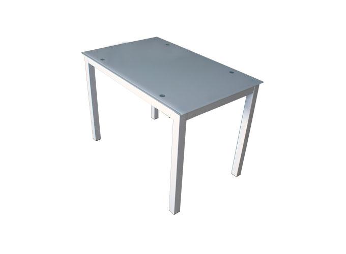 Стеклянный кухонный стол  А0121-117 Белый