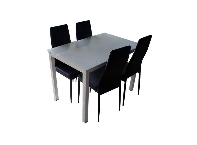 Стеклянный кухонный стол  А0121-117 Белый 2