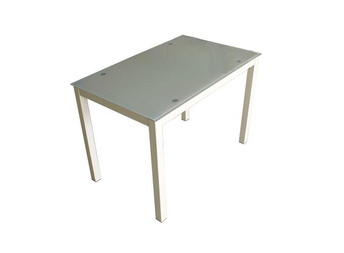 Стеклянный кухонный стол  А0121-117 Бежевый