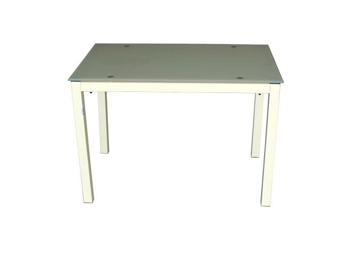 Стеклянный кухонный стол  А0121-117 Бежевый 0