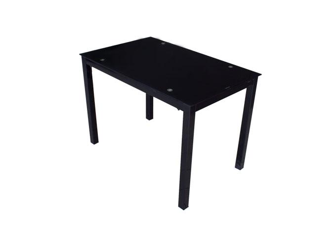 Стеклянный кухонный стол А0121-117 Черный