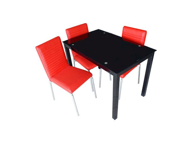 Стеклянный кухонный стол  А0121-117 Черный 2
