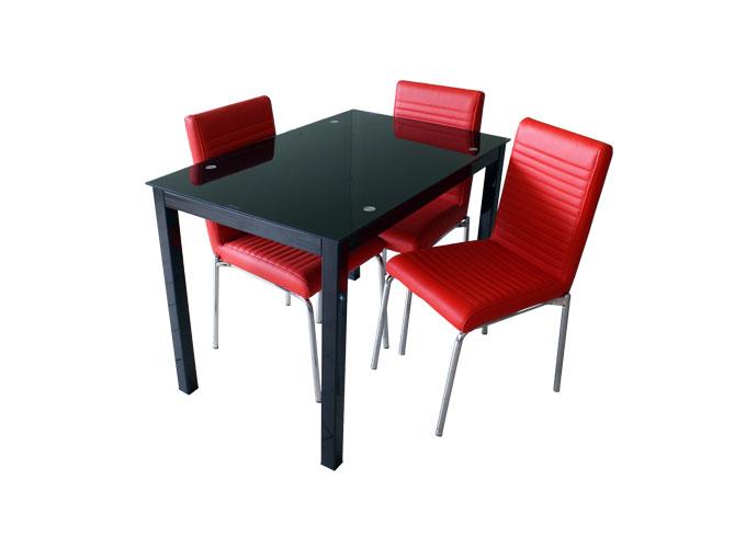 Стеклянный кухонный стол  А0121-117 Черный 1