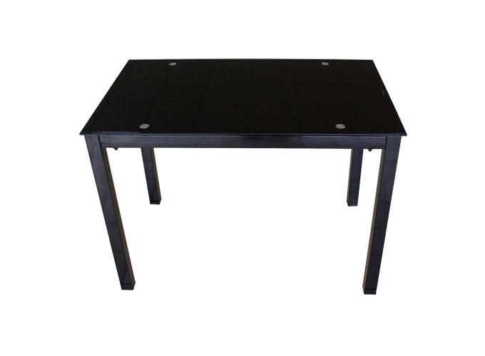 Стеклянный кухонный стол  А0121-117 Черный 0