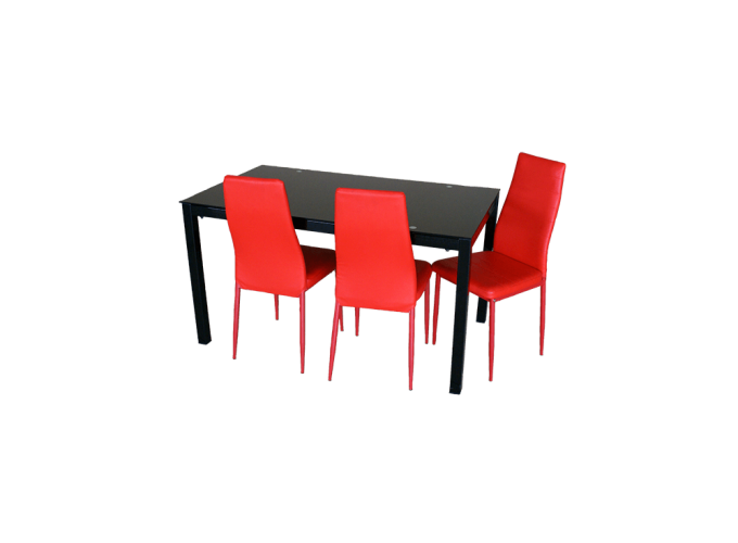 Стеклянный кухонный стол  А0121 1