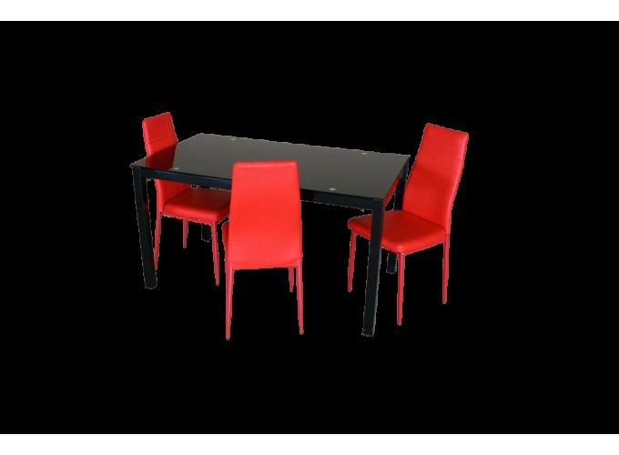 Стеклянный кухонный стол  А0121 0