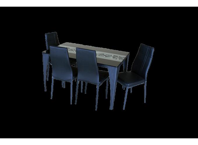 Стеклянный кухонный стол  А020 1