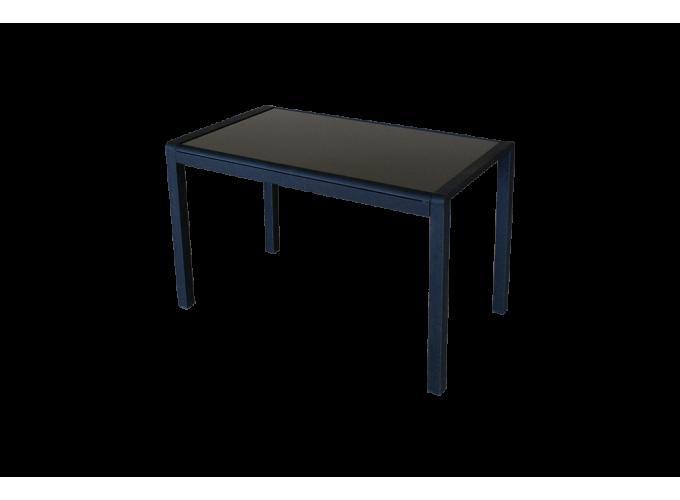 Стеклянный кухонный стол  А074 Черный