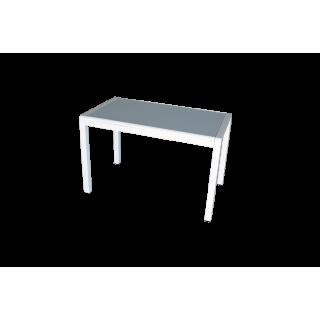 Стеклянный кухонный стол А074 Белый
