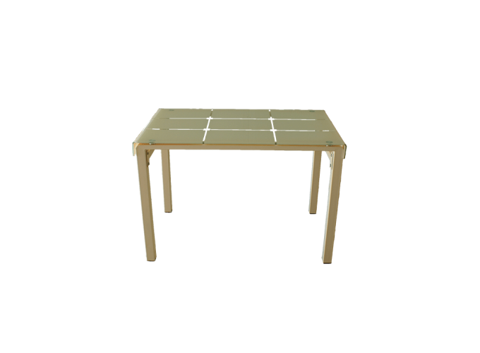 Стеклянный стол на кухню А105 Бежевый 0