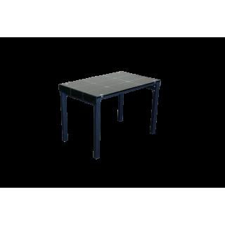 Стеклянный стол на кухню А105 Черный