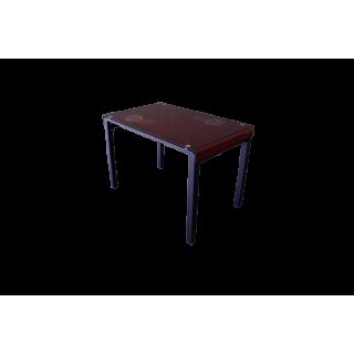 Стеклянный стол на кухню А105 Красный