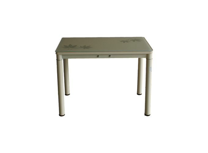 Стеклянный кухонный стол А59-106 Бежевый 0