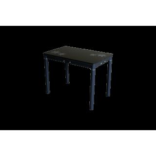 Стеклянный кухонный стол А59-106 Черный