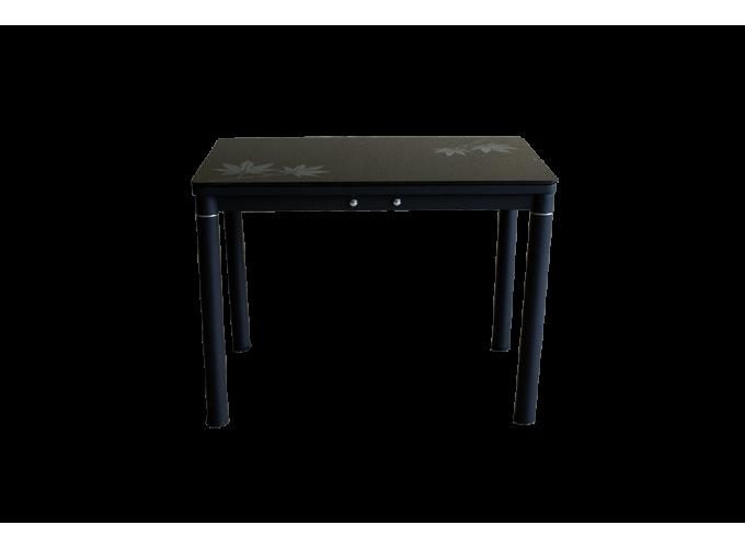 Стеклянный кухонный стол А59-106 Черный 2