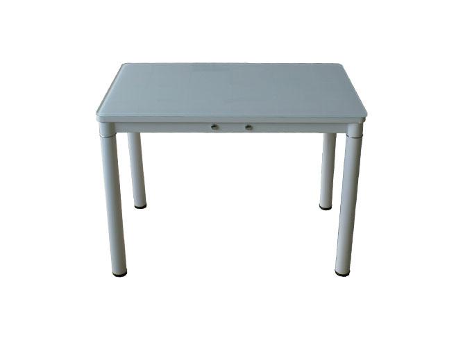 Стеклянный кухонный стол А59-106 Белый 1