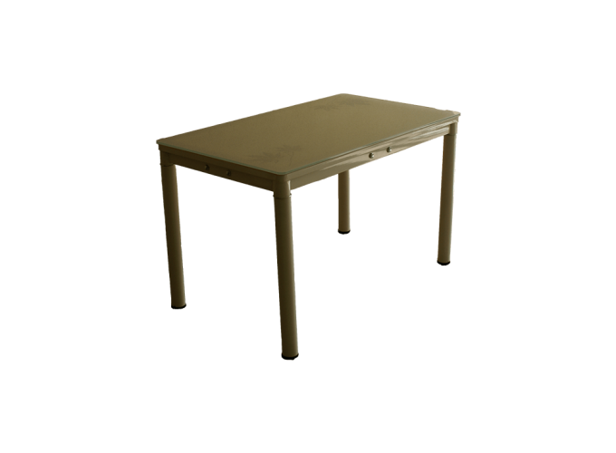 Стеклянный кухонный стол А59-127 Бежевый main