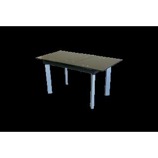 Стеклянный обеденный кухонный стол AD 32-1 Черный