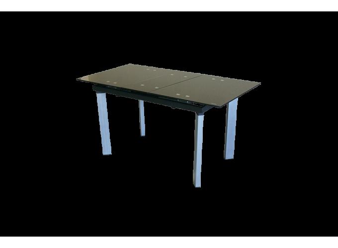 Стеклянный обеденный кухонный стол AD 32-1 Черный main