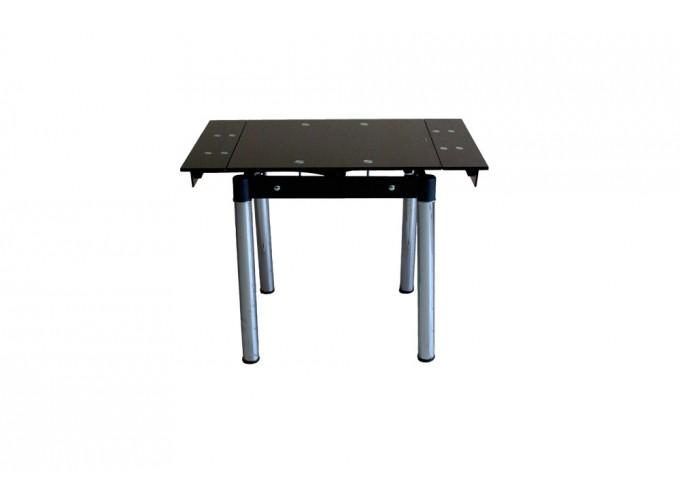Стеклянный кухонный стол B08-77 черный без цветов 2