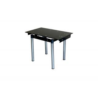 Стеклянный кухонный стол B08-77 черный без цветов