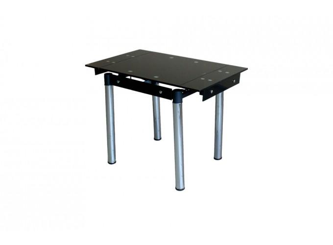 Стеклянный кухонный стол B08-77 черный без цветов main