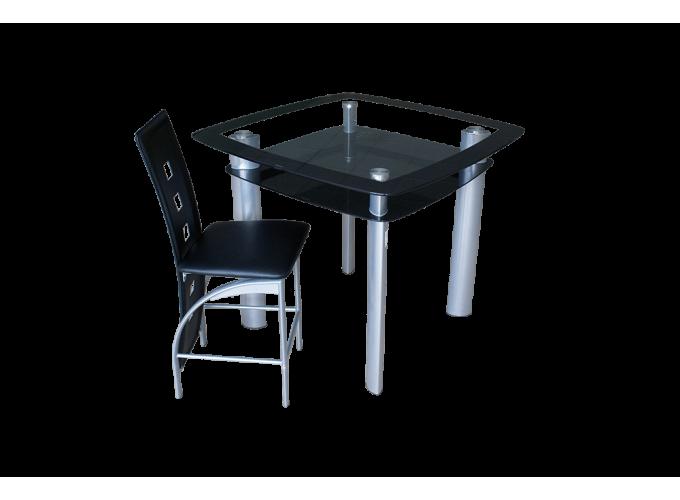 Стеклянный кухонный стол Барный 1
