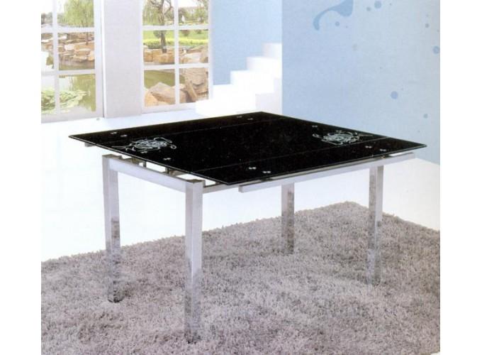 Стеклянный кухонный стол  D-02-2
