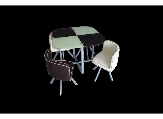 Комплект для кухни, стол+ 4 стула DT536 (бежево-коричневый) 0