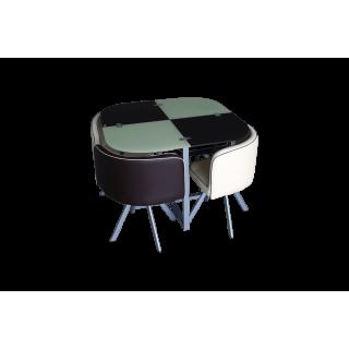 Комплект для кухни, стол+ 4 стула DT536 (бежево-коричневый)