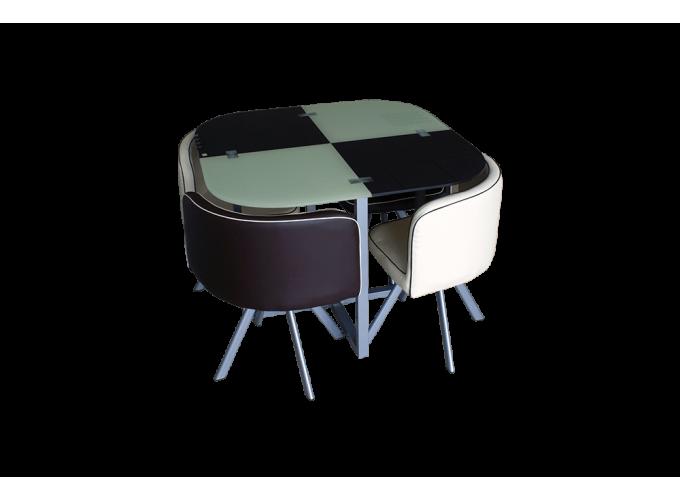 Комплект для кухни, стол+ 4 стула DT536 (бежево-коричневый) main