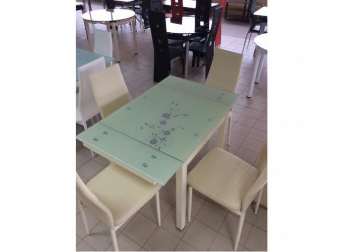 Стеклянный кухонный стол DT586-1B