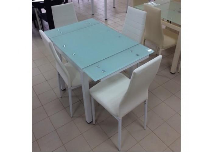 Стеклянный кухонный стол DT586-1B 0